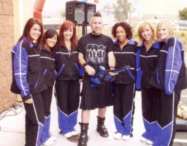 With the Laker Girls at a retail promotion in 2006
